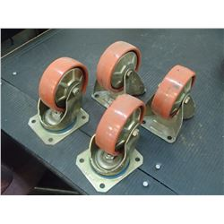 "Variant Systemet 4"" Casters, 2 Swivel, 2 Stationary"