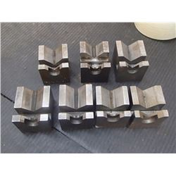 "Steel V-Blocks for Grinding, Overall: 2"" x 2.25"" x 2"""