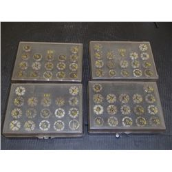 DA180 Collet Sets, 4 Sets Total, 68 Collets Total