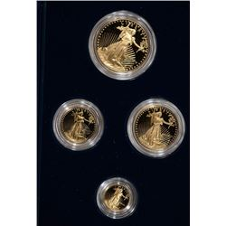 1989 4 COIN SET, PROOF AMERICAN GOLD EAGLES