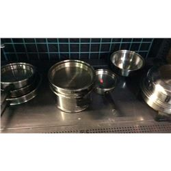 Shelf of cooking pans