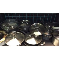 Shelf of cooking pots and pans