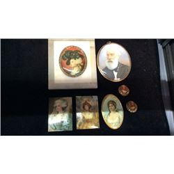 Collection Of Hand Painted Mini Portraits Made