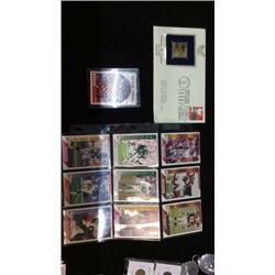 9 Collector Cards, 24K First Day Commemorative
