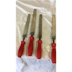 """Set of 4 """"Snap-on"""" files"""