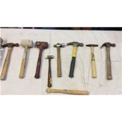 Lot of assorted hammers 8 pieces