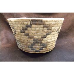 "3 Pima Baskets- C. 1950- 4.5"" X 8""- 10"" X 3.5""-13"" X 4"""