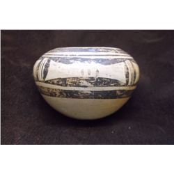 Hopi Pot- Rachel Nampayo- Grandaughter of Famous Hopi Matriarch of Pottery- C. 1950- Hand Coiled