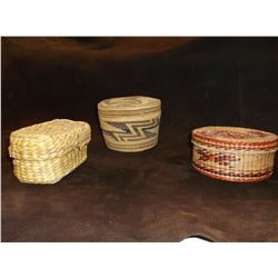 3 Small NW Indian Baskets