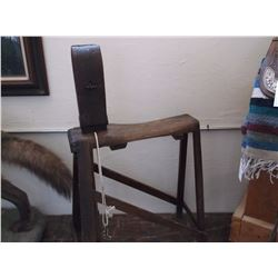 """Saddle Makers Stand- 42""""H X 23""""L"""
