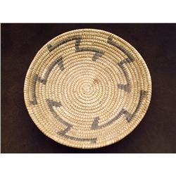 """Papago Basket- Constructed of Yucca and Bear Grass- C. 1950- 2.5""""H X 10""""W"""