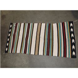 "Navajo Saddle Blanket- C. 1940- 56""L X 28""W"