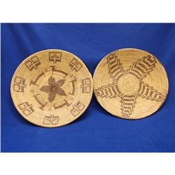"2 Papago Baskets- 3""H X 15""W- 2""H X 14"" W"
