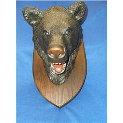 "Black Forest Bear Head- Germany- Plaque- 17""H X 12""W- Head 11.5"" X 11.5"""