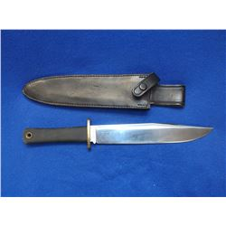 "Marked Trail Master Cold Steel Bowie Knife-Carbon V- Ventura, CA- Sheath- Blade 9.5"" - Handle 5"""