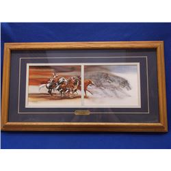 "Signed and Numbered Bev Doolittle Print- ""Wolves of the Crow"" - 44/2650- 15""H X 27""L"