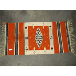 "Navajo Saddle Blanket- Has Some Holes in it.  52"" X 24"""