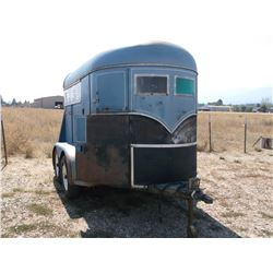 1971 Mond Industries 2 Horse Trailer- Feed Manger- Front Tack- Escape Door- Divider Down Middle