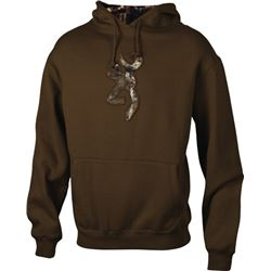 MEN'S HOODIE CHESTNUT/CAMO SMALL WITH BUCK MARK LOGO