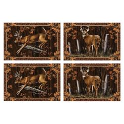"PLACEMAT SET DEER 18""X12"""