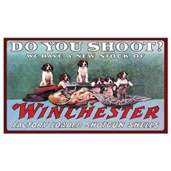"WINCHESTER ""DO YOU SHOOT?"" MAT 30""X17.7"""
