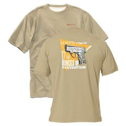 "BERETTA T-SHIRT NANO  BEIGE ""17 OUNCES OF PREVENTION"""