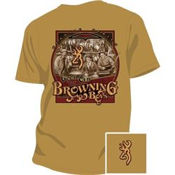 "MEN'S T-SHIRT ""GOOD OLD BOYS"" SIZE SMALL GOLD WITH BROWNING LOGO"