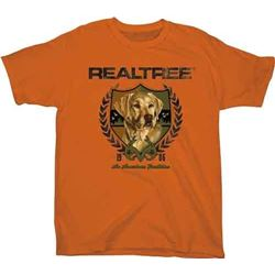 "YOUTH'S T-SHIRT ""LAB CREST"" TEXAS ORANGE"