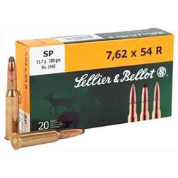 S& B AMMO 7.62X54R 180GR. SP 20-PACK