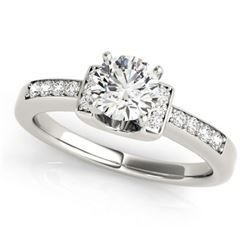 0.86 CTW Certified VS/SI Diamond Solitaire Ring 18K White Gold - REF-192W8H - 27440