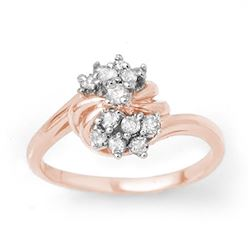 0.25 CTW Certified VS/SI Diamond Ring 18K Rose Gold - REF-47R3K - 13773