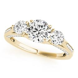 1.75 CTW Certified VS/SI Diamond 3 Stone Ring 18K Yellow Gold - REF-427R3K - 27992