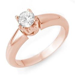 0.50 CTW Certified VS/SI Diamond Ring 14K Rose Gold - REF-79H3W - 10128
