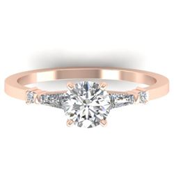 1.04 CTW Certified VS/SI Diamond Solitaire Ring 14K Rose Gold - REF-179X6T - 30391