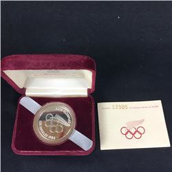 1984 New Zealand Silver Proof Five Dollars - LA Olympics - Commemorative Coin With Case & COA