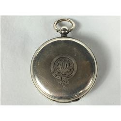 1900 Sterling Silver Key Wind Fob Watch - Chester England 1900