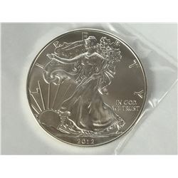 2012 USA 1oz Silver American Eagle Coin - Brilliant Uncirculated