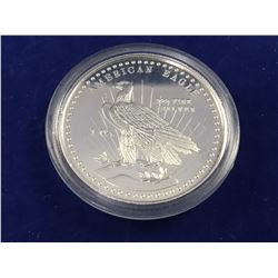 1981 World Wide Mint American Eagle 1 oz Fine Silver Round