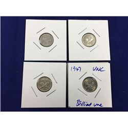 Group of Four New Zealand High Grade Three Pence Coins