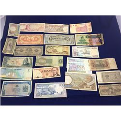 Group of World Banknotes Including Vanuatu