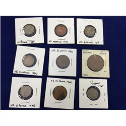 Group of New Zealand Carded Coins