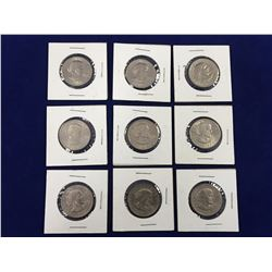 Group of Nine 1979 US Susan B. Anthony One Dollar Coin's