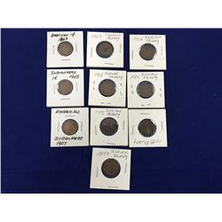 Group of US Indian Head Pennies 1863-1908