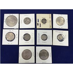 Group of Assorted US Coins Including Seated Half Dime