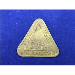 1940's Jersey 5 R.M. Five Reichmarks Offical Token