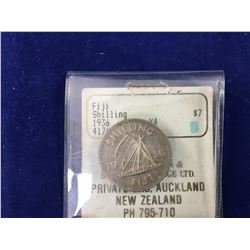 1936 Fiji One Shilling Silver Coin - Uncirculated