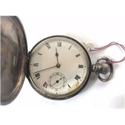 1923 Sterling Hunter Pocket Watch 15 Jewels with Sub Second Dial
