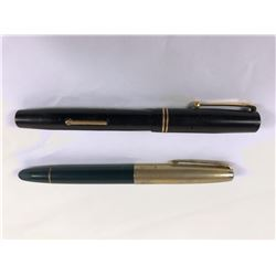 Two Fountain Pens - Monte Grappa & Swan Self Filler With 14ct Gold Nib