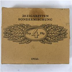 Unopened World War II Sachsen German Pack of 20 Cigarettes