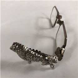 Pair of Folding Art Deco Glasses with Marcasite Clad Poodle